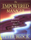 The Empowered Manager: Positive Political Skills at Work By Peter Block Publisher: Jossey-Bass; ISBN: 1555422659; (March 1991) For people who hate office politics and would like to be able to understand them differently. Find this book @ Amazon.com