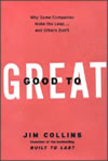 Good to Great: Why Some Companies Make the Leap... and Others Don't By Jim Collins Publisher: HarperCollins; ISBN: 0066620996; (October 2001) For those looking for facts that tie leadership competencies to business outcome and valuation. Find this book @ Amazon.com