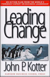 "Leading Change By John P. Kotter Publisher: Harvard Business School Pr; ISBN: 0875847471; (January 1996) This is the ""change bible"" for any leader taking his/her organization through change. Find this book @ Amazon.com"